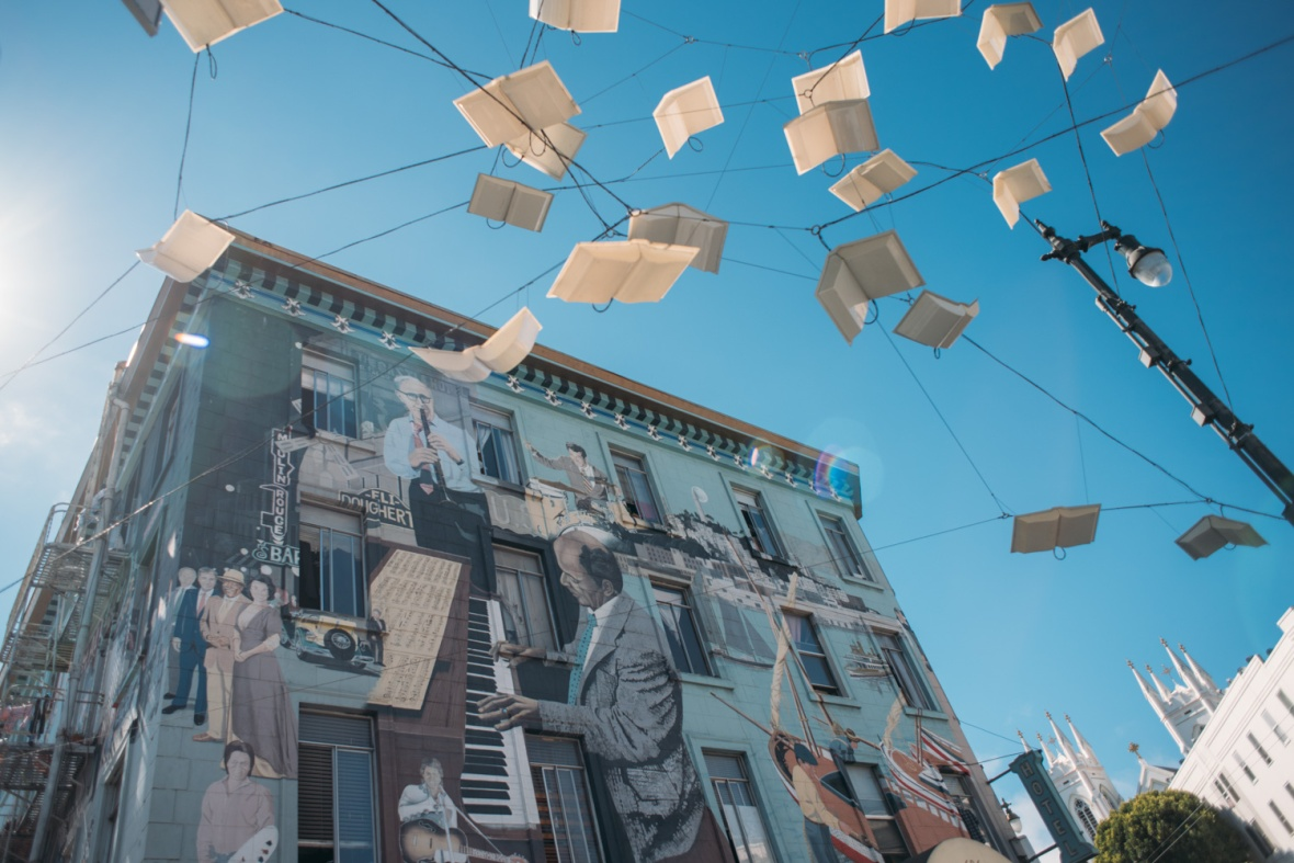 Book installation in San Francisco